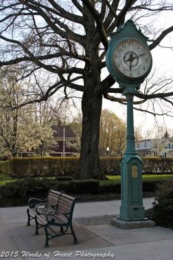 Town Clock & Bench, Wallingford, Connecticut